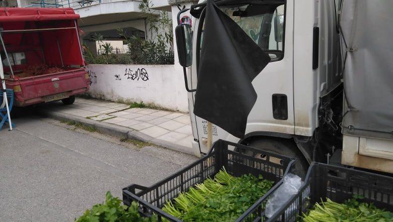 Μαύρες σημαίες στη λαϊκή της Περαίας